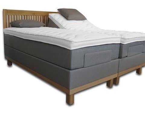Sopire Suvia Oak 180x200 elevationsseng med 10 cm latex topmadras